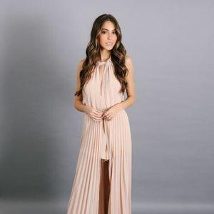 Nude pink Romper Dress